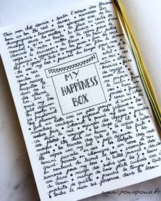 my happiness box journal idea