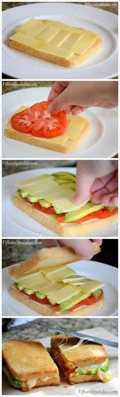 Healthy Snacks For Kids Grilled Cheese with Avocado and Heirloom Tomato - 16 Healthy Spring Recipes for Kids Healthy Spring Recipes, Healthy Snacks, Healthy Avocado Recipes, Avocado Sandwich Recipes, Avocado Burger, Burger Recipes, I Love Food, Good Food, Yummy Food