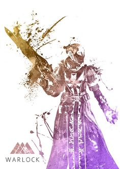 Destiny Warlock Guardian Watercolor print/poster wall by SquidFold