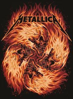 Metallica ~ Fire Skulls