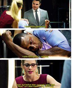 Arrow - Felicity, Oliver & Diggle.
