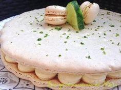 Macaron géant vanille poire et citron vert
