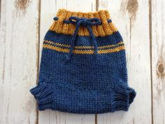 SMALL Wool Cloth Diaper Cover Hand Knit Cloth Diaper by KnitToo