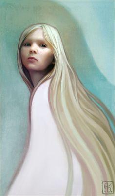 Kai Fine Art is an art website, shows painting and illustration works all over the world. Beautiful Blonde Hair, Portrait Art, Portraits, Art Blog, Fantasy Art, Fantasy Women, Illustrators, Aurora Sleeping Beauty, Illustration Art