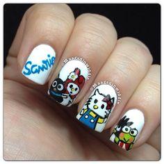 hello kitty by  maagsdinwiddie  #nail #nails #nailart