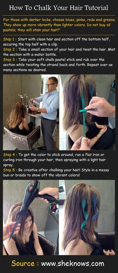 How To Chalk Your Hair | Beauty Tutorials