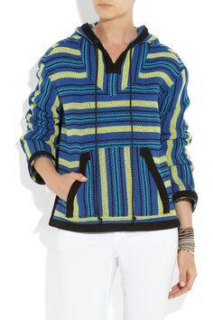 Proenza Schouler|Baja suede-trimmed striped tweed #jacketSpring Summer 2013 #fashion