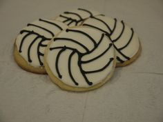 One Dozen Decorated Volleyball Large Sugar Cookie by DocCakes, $25.00