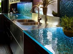 Best Popular Modern Kitchen Counter Decor' This old be an awesome bar as well with this lighting.   Love this