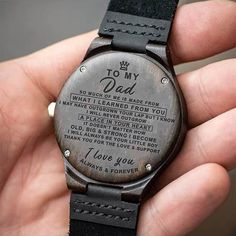 Engraved Wooden Watch For Dad - Great Gifts For Father Great Gifts For Wife, Bday Gifts For Him, Surprise Gifts For Him, Thoughtful Gifts For Him, Romantic Gifts For Him, Great Gifts For Dad, Perfect Gift For Dad, Diy Gifts For Boyfriend, Love Gifts