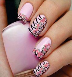 Nail art designs, leopard nails and nail designs. Nail Art Designs, Beautiful Nail Designs, Beautiful Nail Art, Nails Design, Awesome Designs, Pedicure Designs, Simple Designs, Great Nails, Fabulous Nails
