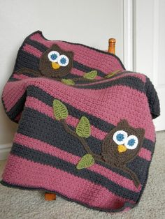 Owl Baby Blanket Girl...love this!!