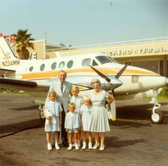 Walt and Lillian traveling with Tamara, Walter, Joanna and Christopher