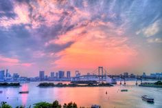 Image result for rainbow water sunset
