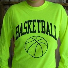 Amazon.com: Neon Long Sleeve Basketball T-shirt: Clothing !!!!WANT!!!