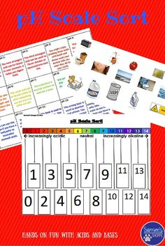 Image result for worksheets for middle school on acids and