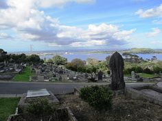 Another Auckland cemetery- Hillsborough- and one of my favorites. View of Hillsborough Bay and Mangere across the way.