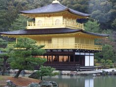 Kinkaku-ji is the most photographed temple in Japan. The Golden Pavilion stands in the north west of Kyoto. Nijo Castle, Golden Temple, Buddhist Temple, Kyoto Japan, Wonders Of The World, Travel Photos, The Good Place, Beautiful Places, Amazing Places