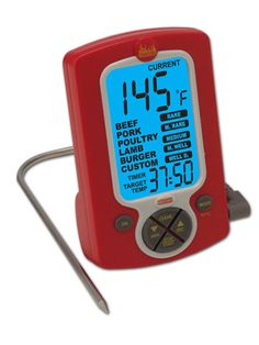 This two-in-one Taylor Weekend Warrior Cooking Thermometer/Timer ($19.99) is perfect for indoor and outdoor cooking.
