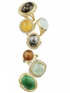 love these cocktail, statement rings