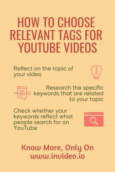 When it comes to tagging your content online—including YouTube videos—it isn't just about knowing how to add tags from the technical point of view. You have to be savvy enough to know which tags will make your content rank higher in the search results. Visit the InVideo Blog and learn more! Youtube Tags, You Youtube, Learn Portuguese, Youtube Search, 12th Book, Make A Video, You Videos, Video Editing, Things To Come