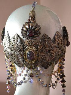 Art nouveau tribal headdress belly dance back