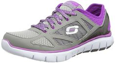 Skechers Womens Relaxed Fit Skech Flex Royal ForwardGrayPurpleUS 11 M * Find out more details by clicking the image