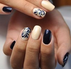 Imagen de nails, manicure, and black