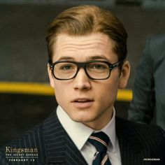 Taron Egerton. That face with those glasses. What a handsome chap!