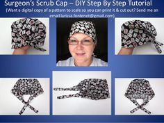 Scrub Caps Printable Pattern and How To DIY Tutorial Teaching You How… - Her Crochet Scrub Hat Patterns, Hat Patterns To Sew, Sewing Patterns Free, Free Sewing, Scrubs Pattern, Sewing Basics, Sewing Hacks, Sewing Tutorials, Sewing Tips