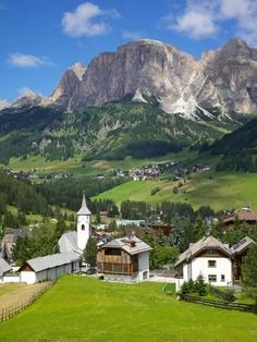 Corvara and Sass Songher Mountain, Badia Valley, Trentino-Alto Adige/South Tyrol, Italy-Frank Fell-Photographic Print Italy Vacation, Italy Travel, Italy Trip, La Provence France, Hotel In Den Bergen, Beautiful World, Beautiful Places, Places To Travel, Places To Visit