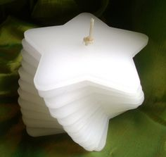 Handmade White Frankincense Scented Stacking Candle. by Quacraft, £12.00