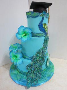 Proud as a Peacock by Nancy Travis Wheaton's Fancy Cakes