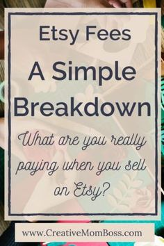 Dec 2018 - Etsy Fees: A simple breakdown. What are the fees that are involved in setting up and running an Etsy shop? Here's a step by step breakdown. Craft Business, Creative Business, Business Tips, Online Business, Business Lady, Tshirt Business, Starting An Etsy Business, Etsy Seo, Le Shop