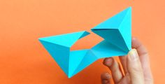 Origami 'Bipyramid' Tutorial & What To Do With Them - Mr Printables Paper Crafts Origami, Diy Origami, Diy Paper, Paper Art, Oragami, Mr Printables, Collages, Origami Jewelry, Origami Folding