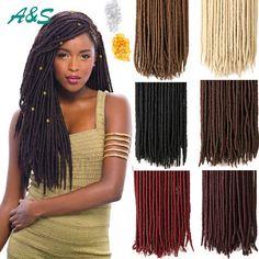 "18"" faux locs crochet dreads blonde hair extensions 613 color hairpieces dreadlocks braids havana mambo faux locs crochet braids.  AS hair store from aliexpress. Our email is ashair2016@outlook.com. wholesale price"