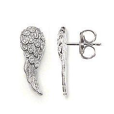 Thomas Sabo Silver Angel Wings Stud Earrings H1723