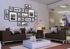 Buy Photo Wall Frame set Collection-Set of 20 Not Included) with Lowest Price and Top Service! Wall Frame Set, Frames On Wall, Gallery Wall Layout, Photo Wall Decor, Picture Wall, Picture Photo, Black Picture, Picture Frames, Artsy Picture