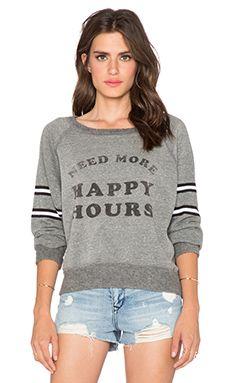 DAYDREAMER Happy Hours Sweatshirt in Heather Grey 686971dc0