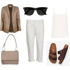 """""""white boyfriend jeaans."""" by charlieandfog on Polyvore"""