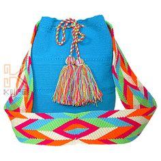 Mochila tejido Wayuu unicolor
