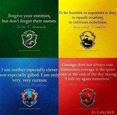Hogwarts House Traits Potters World Pinterest