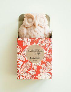 {Cherry Blossom Soap - owl}