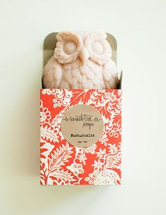 Cherry Blossom Soap - NOCTURNALIA Owl Soap - Natural, Handmade, Cold Processed, Vegan