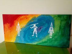acrilicos pintado a paleta y corazón. 🍃