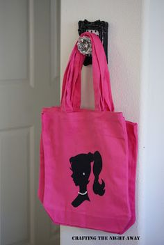 Barbie shopping bags for girls you can make these cheap easy you can get foam black bags 3 for a dollar at the dollar store and a handy glue gun !