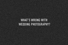 What's wrong with wedding photography - Show your personality - Spencer Lum