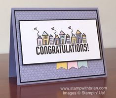 Bravo, Welcome Words, Stampin' Up!, Housewarming Card