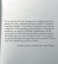 Une lettre d'amour de Victor Hugo à son amoureuse magnifique sans en faire des tonnes !!!