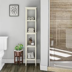 SystemBuild Franklin Storage Tower, Soft White - Walmart.com - Walmart.com Vertical Storage, Extra Storage Space, Storage Spaces, Open Shelving, Shelves, Acupressure Massage, Decorative Mouldings, Wall Anchors, Washing Clothes